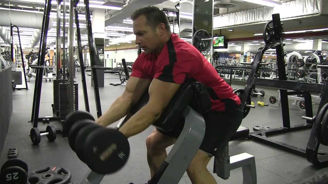 Image result for dumbbell preacher curl