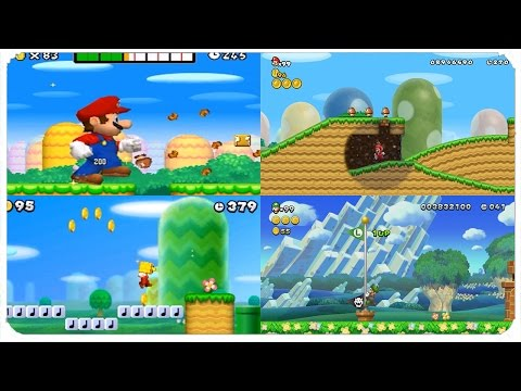 New Super Mario Bros. Series - Evolution of World 1-1 Levels (NSMB, NSMBW, NSMB2, NSMBU, NSLU)