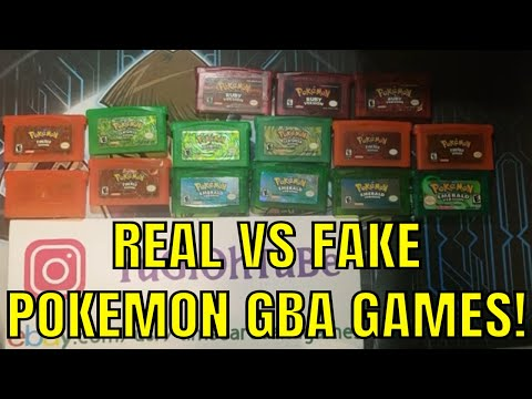 GUIDE: How To Tell Between AUTHENTIC COUNTERFEIT Pokemon Game Boy Advance Emerald FRLG RS Difference