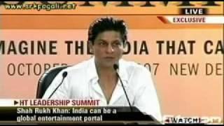 "Shahrukh Khan says ""shut up"" to those who think he"