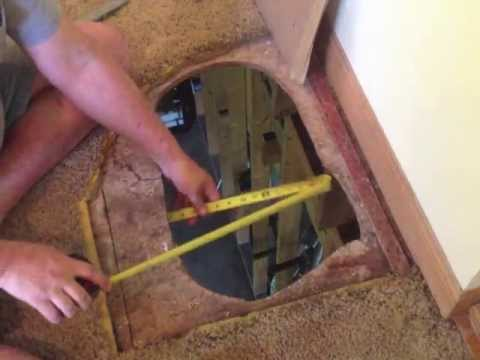 How to fix a hole in the floor subfloor repair diy youtube - How to replace subfloor in bathroom ...