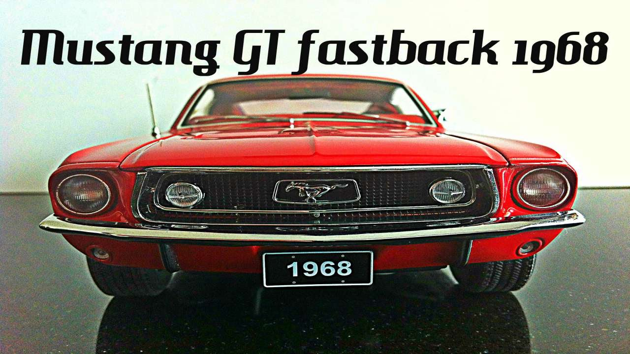 ford mustang gt390 1968 - autoart