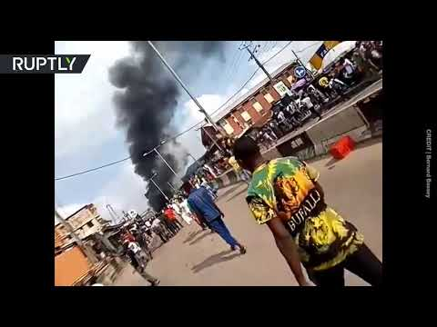 Nigeria unrest | Lagos police station set ablaze by protesters