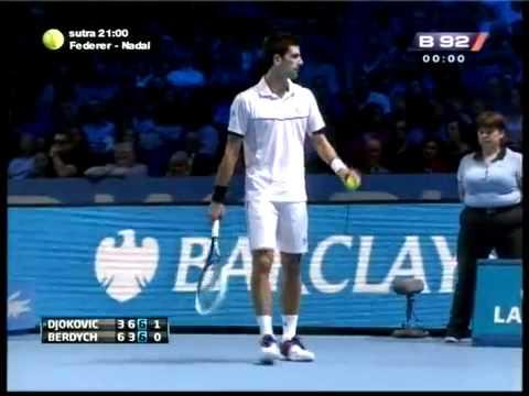Novak Djokovic vs Tomas Berdych - ATP London 2011. Highlights