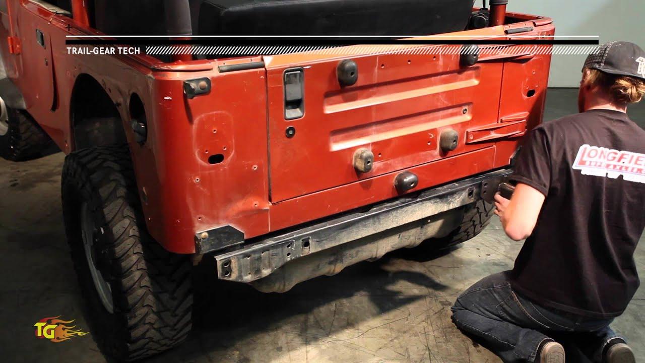 Trail Gear Tech: Rock Defense™ YJ/TJ Rear Bumper Install   YouTube