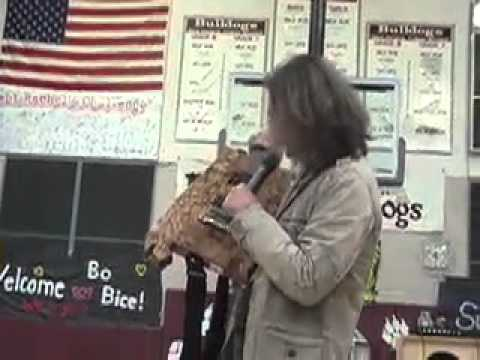 Bo Bice visits Buljan Middle School