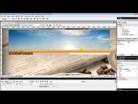 how to make blogger template with dreamweaver part 1 youtube