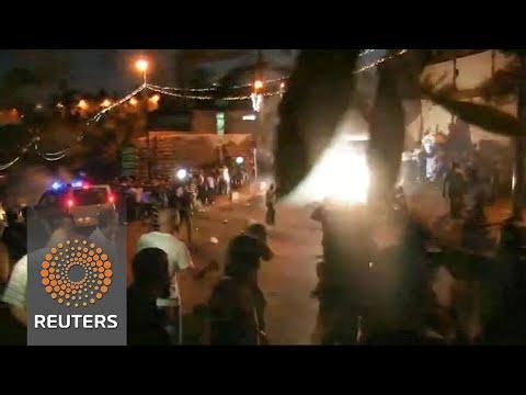 Muslim worshippers clash with Israeli forces outside Jerusalem shrine