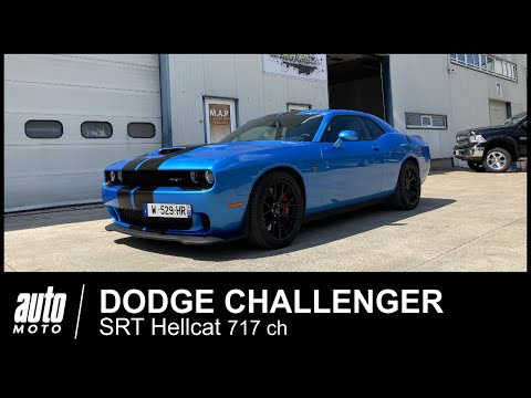 Dodge Challenger SRT Hellcat 717 ch ESSAI POV Auto-Moto.com - Видео онлайн