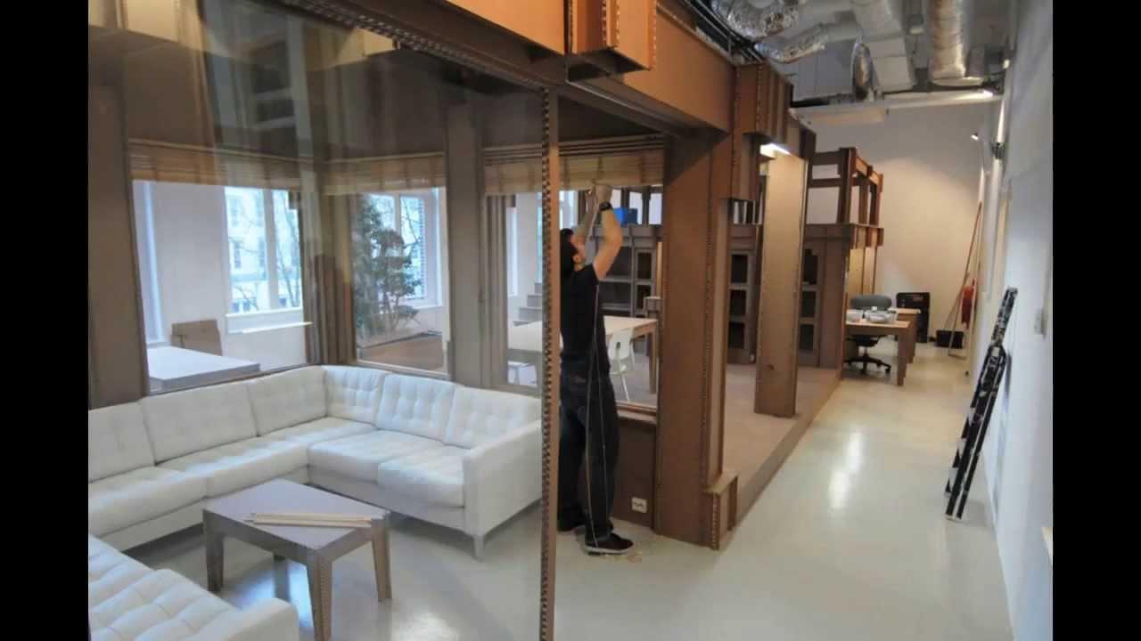 Nothing cardboard office interior alrik koudenburg