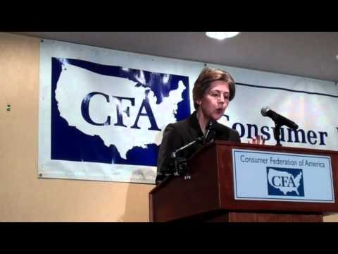 Elizabeth Warren at the Consumer Federation of America (Part 1)