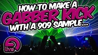 How to make a gabber kick with a 909 sample - Sound Design Saturday