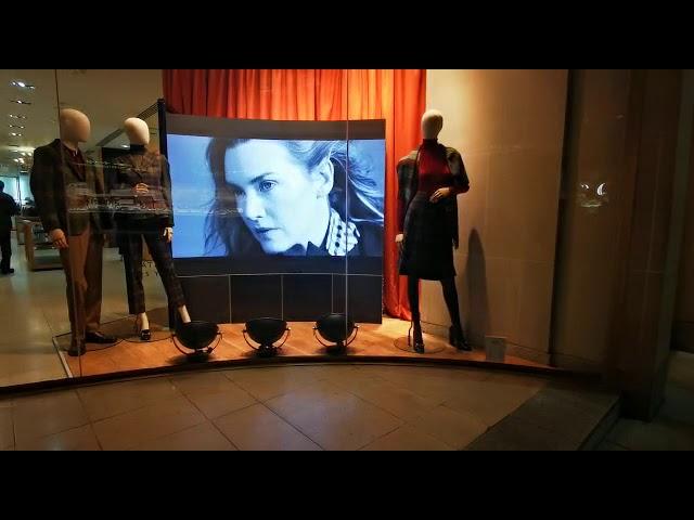 Retail Window Display - LED Wall, Bright Screen for DAKS