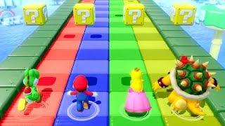 Super Mario Party Minigames - Yoshi vs Mario vs Peach vs Bowser