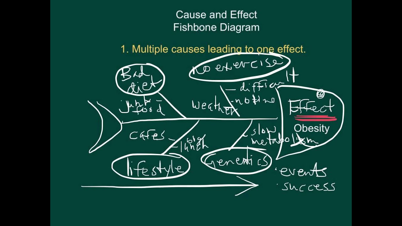hight resolution of cause and effect fishbone diagrams