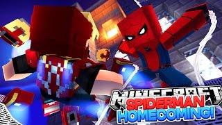 Minecraft Adventure - SPIDER-MAN IS WORKING FOR THE NEW SUPER VILLAN | Spider-man Homecoming