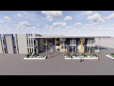 Video rendering of Del Campo High School's future science complex