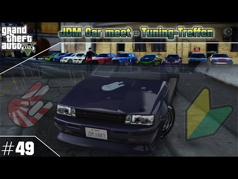 GTA 5 Online JDM car meet #49 (PS3) / Tuning-Treffen
