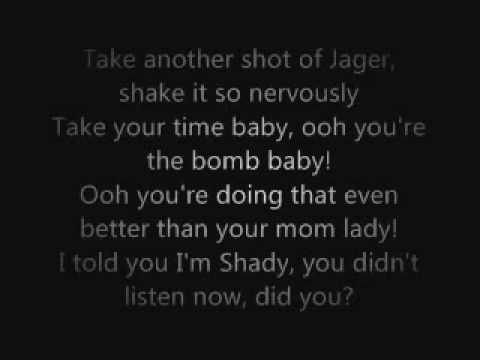 Eminem - So Bad Lyrics On Screen music