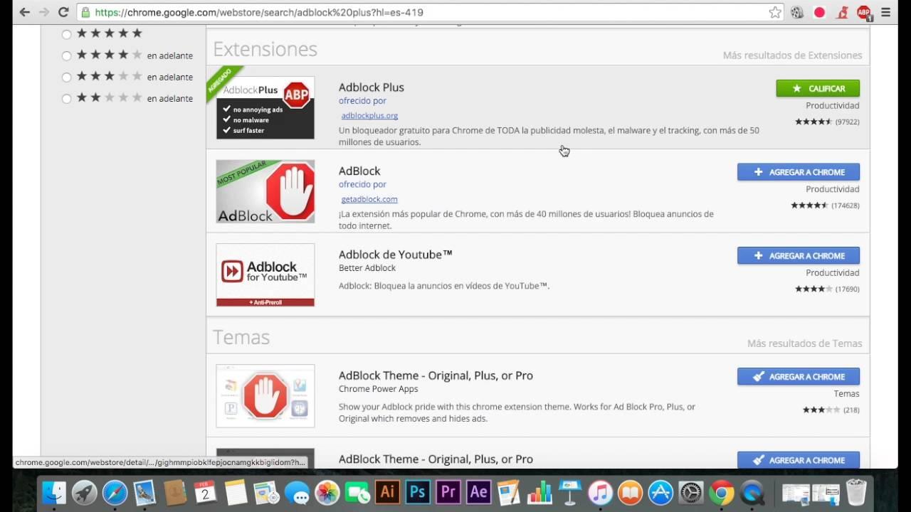 eliminar publicidad de google chrome mac