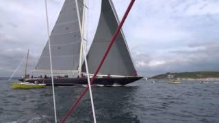 J Class Yacht Racing Falmouth 24th June 2015 - Close Pass