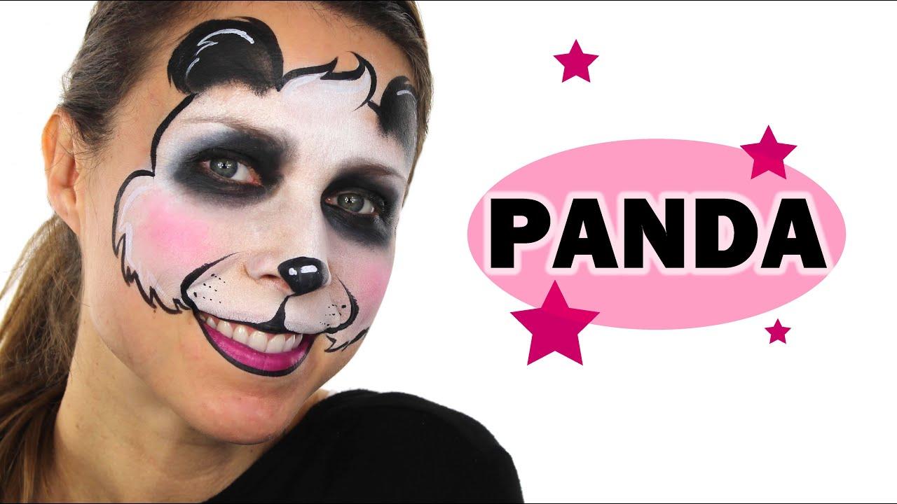 Panda Face Painting Tutorial Youtube