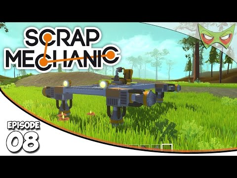 Scrap Mechanic Gameplay - Ep. 08 - Flying Platform! - Lets Play