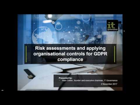 Risk assessments and applying organisational controls for GDPR compliance