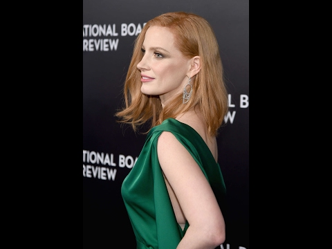 Jessica Chastain Hot Green Dress Video - National Board of Review Awards