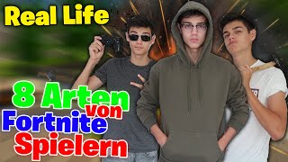 8 Types of Fortnite Players in Real Life!!