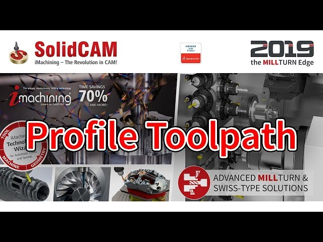 SolidCAM - Profile Toolpath