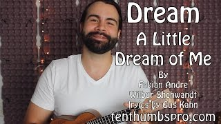 Dream a little dream of me - Finger Picking Jazz Ukulele Tutorial