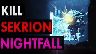 Best Hiding Spots in Sekrion Nightfall Nexus Mind - Destiny Nightfall Guide