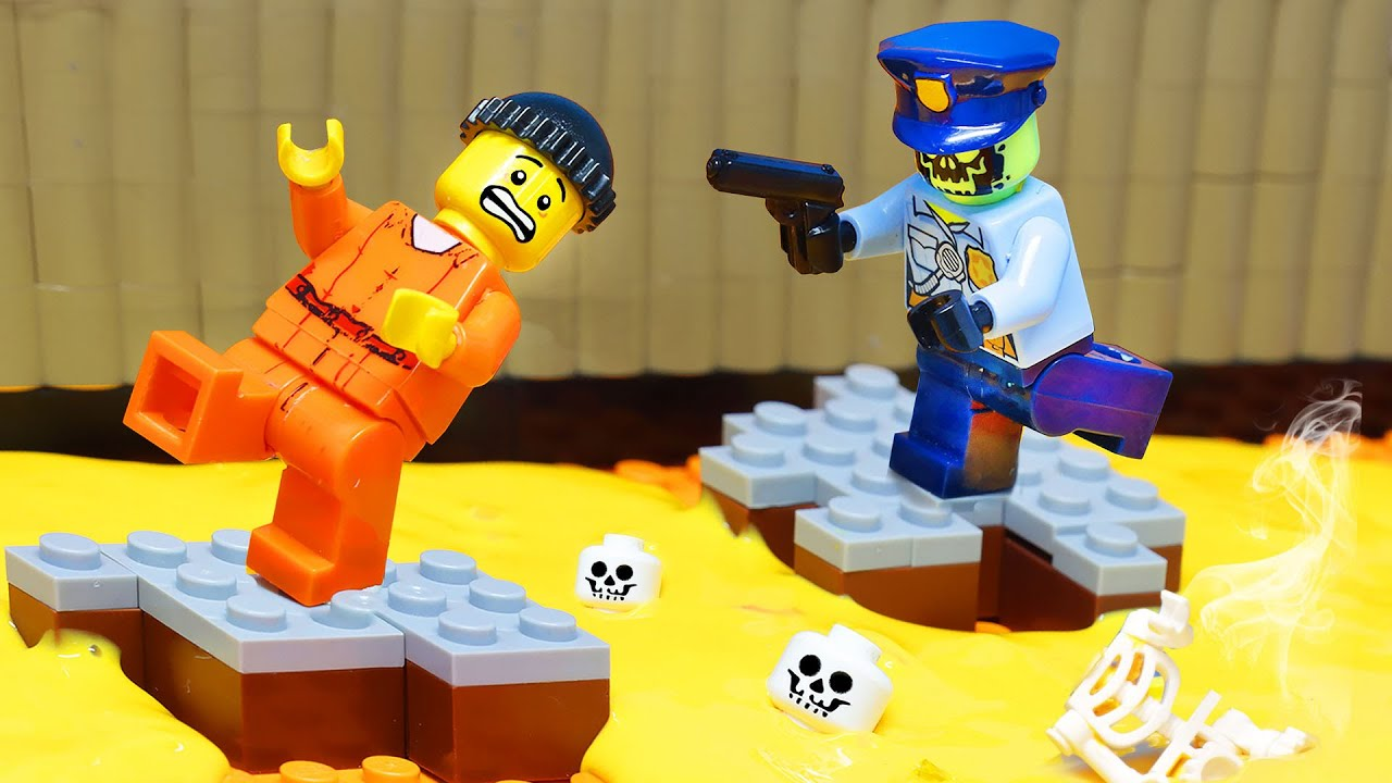 Download THE FLOOR IS ACID   Escape From Hell Prison   Lego City Prison Break By LEGO Land