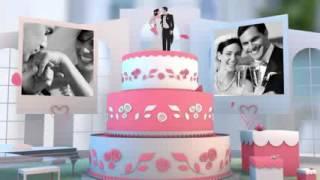 Слайд шоу - Свадебный альбом-раскладушка