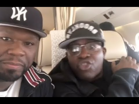 fb984da9116e 50 Cent Takes Entire G Unit Crew On Private Jet Tony Yayo Hella Excited