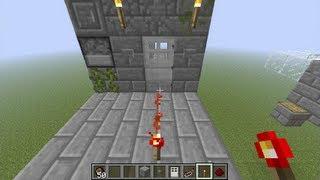 Minecraft Security Door, Lock and Key (Tutorial)