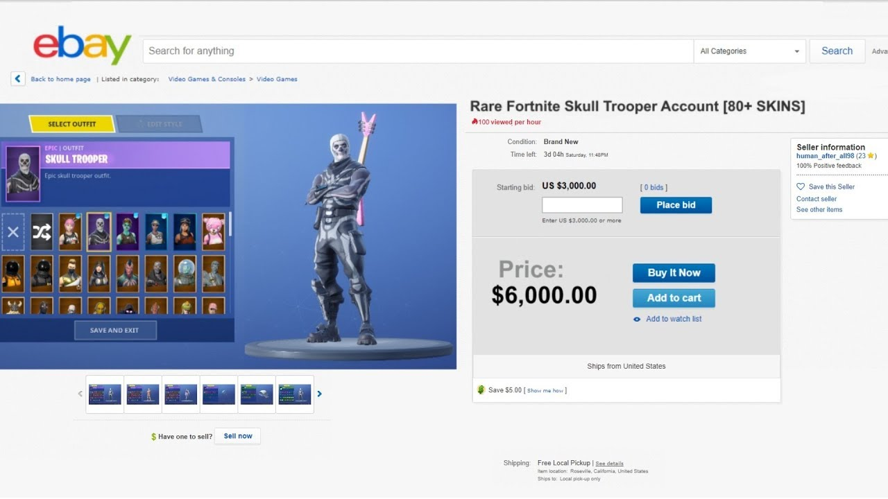 So I tried buying a Rare Fortnite account for $6000 on ...