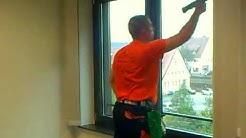 Fenster putzen auf einer anderen Art und Weise!!!
