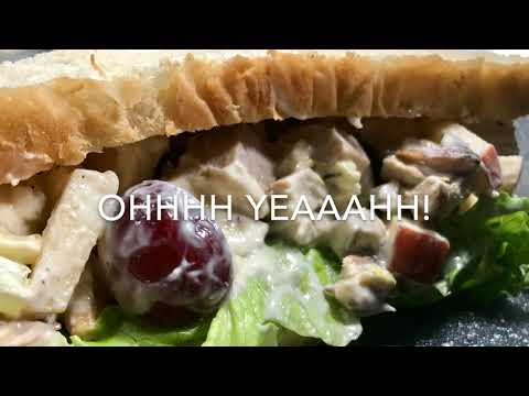 CHICKEN SALAD (My Grandmother's Recipe) With Pecans, Apple And Grapes & Pecans