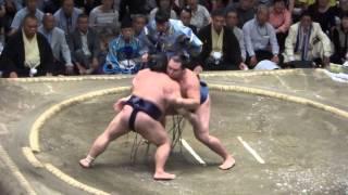 20140923 大相撲秋場所10日目 鶴竜vs豪風.