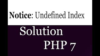 undefined index:  in php