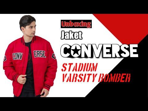 Unboxing Converse Stadium Varsity Bomber Jacket