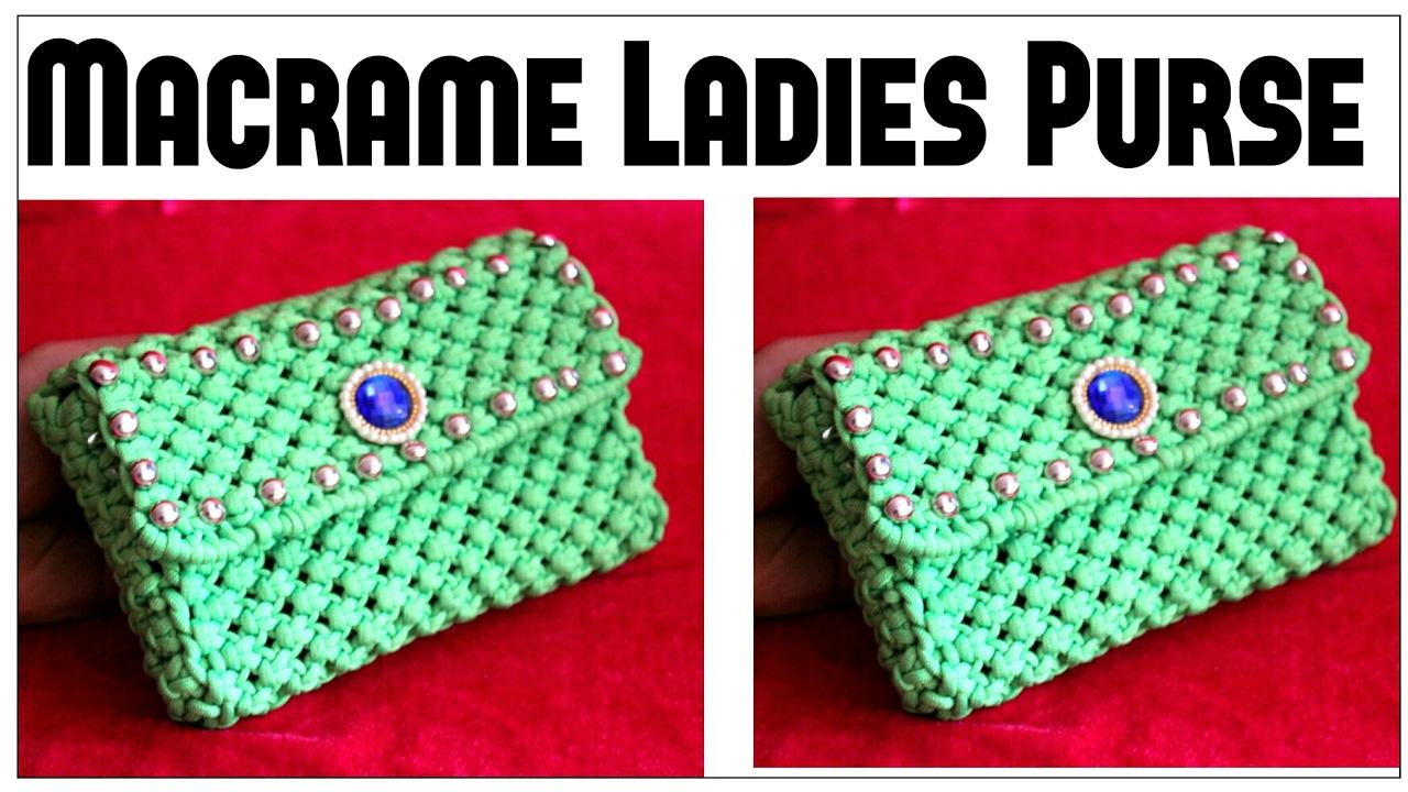 Macrame Purse | Handmade Macrame Hand Purse