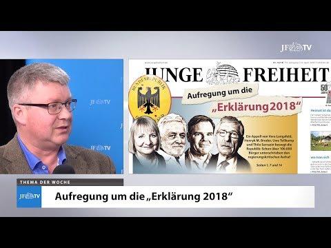 Ein Blick in die neue JF (16/18): Aufregung um die Erklärung 2018