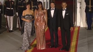 Michelle Obama Shines In Stunning Versace Gown at Last White House State Dinner