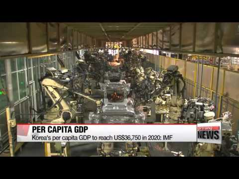 Korea′s per capita GDP to reach US$36,750 in 2020: IMF   한국 1인당 GDP 5년후 3만7천달러…일