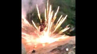 Funny Video: Firework Throw Fail