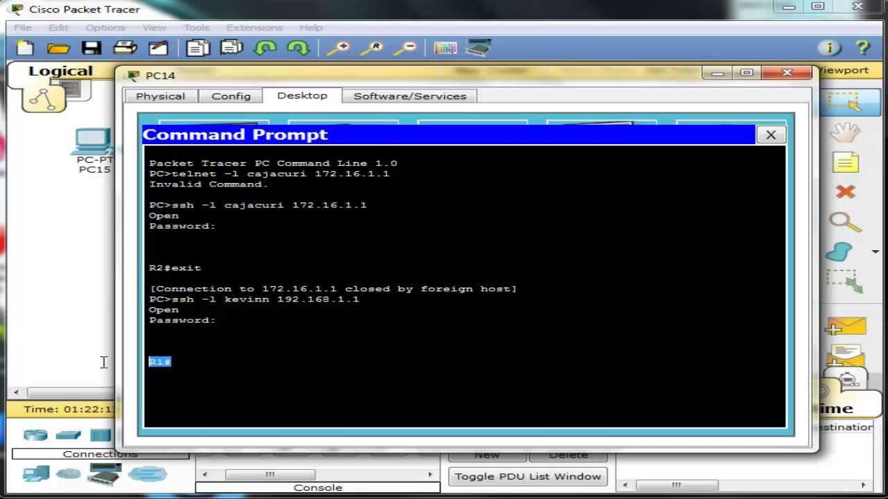 Acceso remoto al router mediante ssh