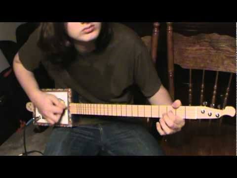 Man of constant sorrow- Three string Cigar Box Guitar - YouTube